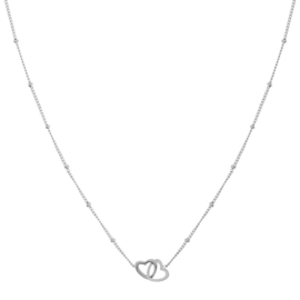 Ketting two hearts zilver (WEB)
