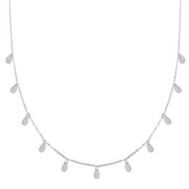 Ketting a lot of drops zilver (WEB)