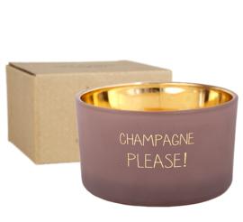 MF kaars champagne