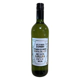 Witte wijn lullig flesje