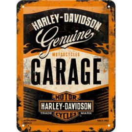 Tin Sign 15 x 20 cm Harley/Davidson Garage