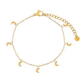 Armband a lot of moons goud (WEB)