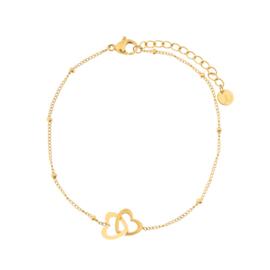 Armband two hearts goud (WEB)