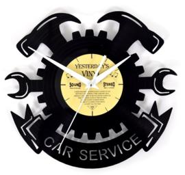 Vinyl clock CAR SERVICE