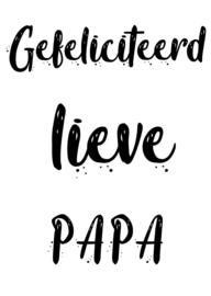 A6 kaart gefeliciteerd lieve papa