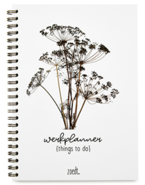 Werkplanner things to do met droogbloemen