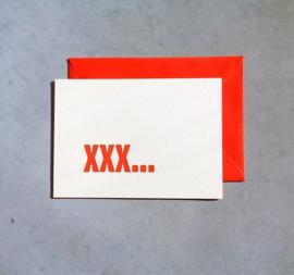 A6 kaart neon xxx &