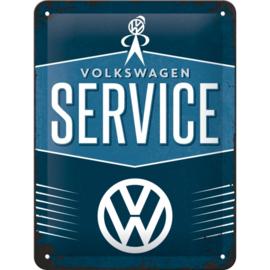 Tin Sign 15 x 20 cm VW Service