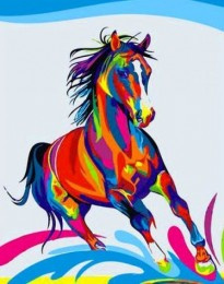 Diamond painting paard GS141 50x40