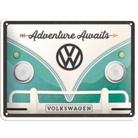 Tin Sign 15 x 20 cm VW Bulli Adventure