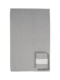 Handdoek (keuken) grijs met banderol