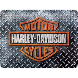 Tin Sign 15 x 20 Harley/Davidson /  Diamond Plate