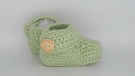 Gehaakte baby boots mint
