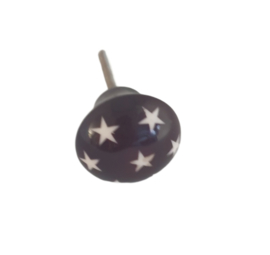 Kastknopje sterren - zwart/wit