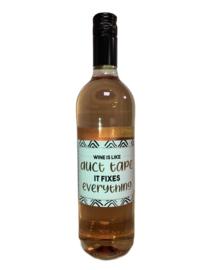 Rose wijn ducktape