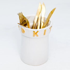 Kitchen aid baby gold-on-white