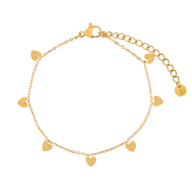 Armband a lot of hearts goud (WEB)