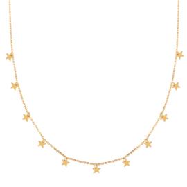 Ketting a lot of stars goud (WEB)