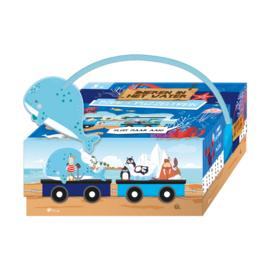 Puzzel trein dieren in het water