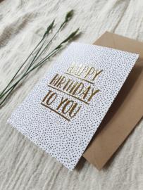 A6 kaart dubbel happy birthday