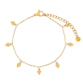 Armband a lot of diamonds goud (WEB)