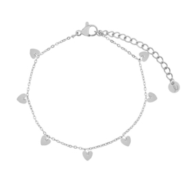 Armband a lot of hearts zilver (WEB)
