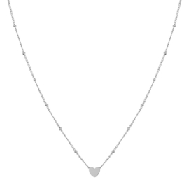 Ketting closed heart zilver (WEB)