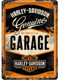 Metal Card Harley Garage