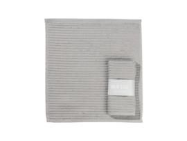 Vaatdoek grijs met banderol