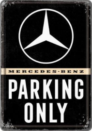 Metal Card Mercedes Parking Only