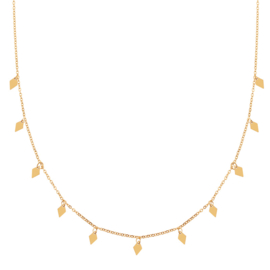 Ketting a lot of diamonds goud (WEB)