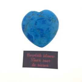 Edelsteenhart 4cm howliet blauw