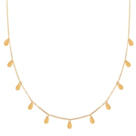 Ketting a lot of drops goud (WEB)