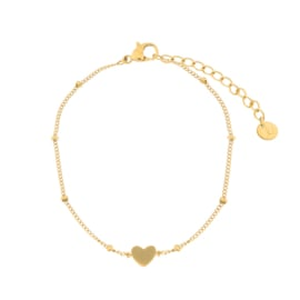 Armband closed heart goud (WEB)