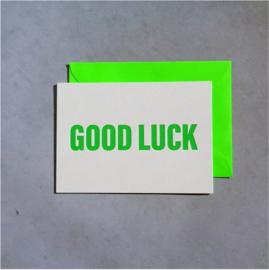 A6 kaart neon good luck