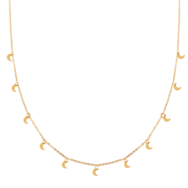 Ketting a lot of moons goud (WEB)