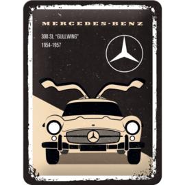 Tin Sign 15 x 20 cm Mercedes 300 SL