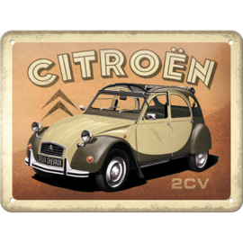 Tin Signs 15 x 20 cm Citroen - 2CV