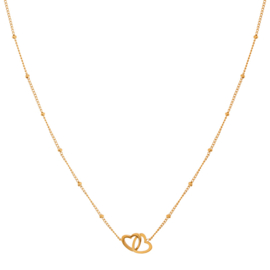 Ketting two hearts goud (WEB)