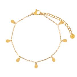 Armband a lot of drops goud (WEB)