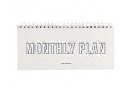 Notebook monthly plan