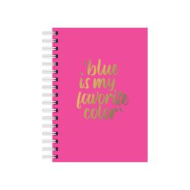 Notebook blue favorite color