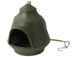 Vogelvoeder huisje ø18x15,5cm Groen