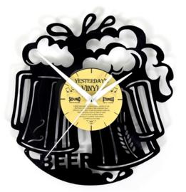 Vinyl clock BEER