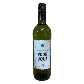 Witte wijn bedankje voor jou