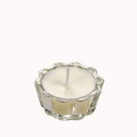Flower Votive Candle WH (12)