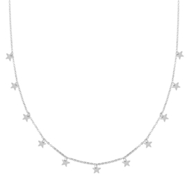 Ketting a lot of stars zilver (WEB)