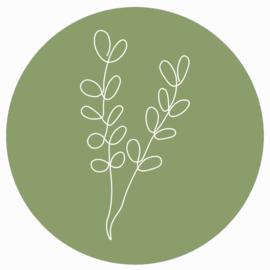 Muurcirkel groen witte tak
