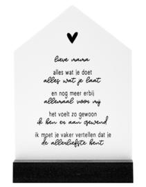 Lieve mama, cadeautje: huisje met gedicht voor de allerliefste moeder
