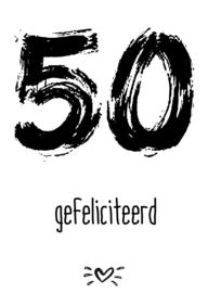 A6 kaart 50 gefeliciteerd